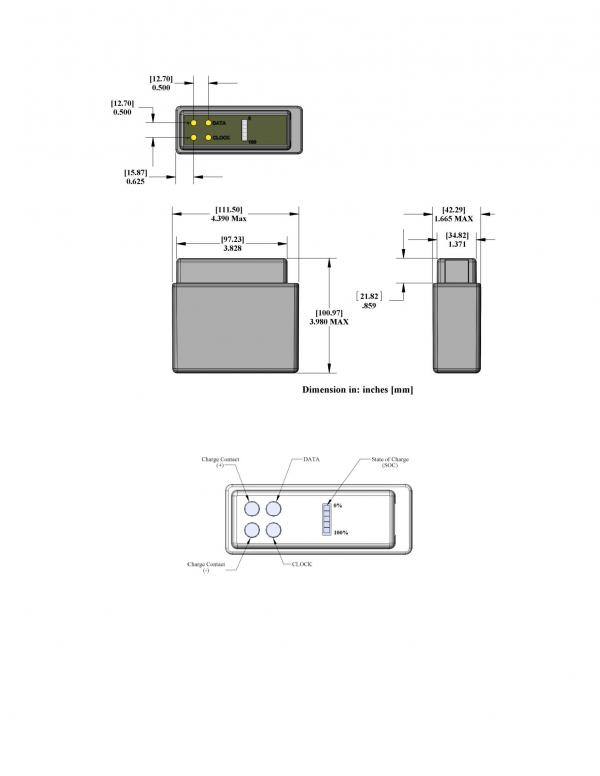 PB-LWH-02-NC Land Warrior Battery - High Capacity Drawing