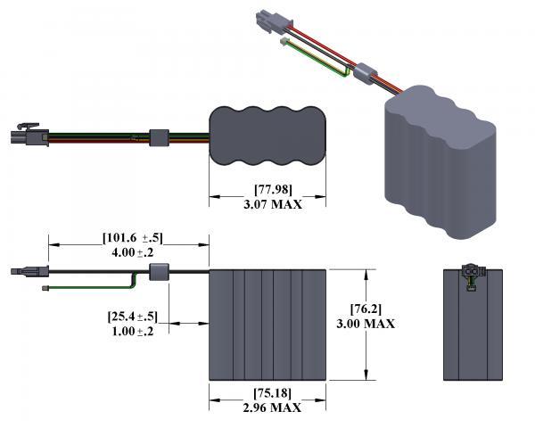 PB-FL-01  Battery Drawing